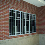 Painted steel decorative window framing