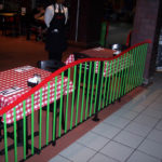Painted steel railings at the Pasta House restaurant -Lambert Airport 2
