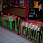 Painted steel railings at the Pasta House restaurant -Lambert Airport