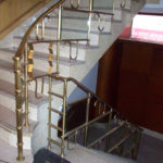 Refurbished bronze railings at the YMCA in downtown St Louis