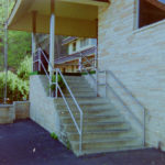 Stainless steel railings and column wraps at Meramec Caverns entrance