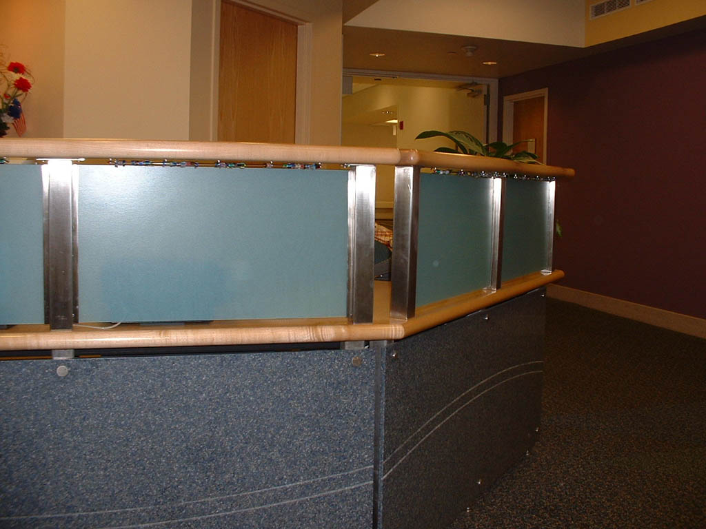Stainless Steel Reception Desk Components 2