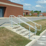 clear anodized aluminum railings at Waterloo Middle School 2