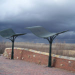 galvanized and Painted steel shade structures at the Monarch Levy Trail in Chesterfield with stainless steel fasteners 3