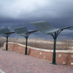 galvanized and Painted steel shade structures at the Monarch Levy Trail in Chesterfield with stainless steel fasteners 4