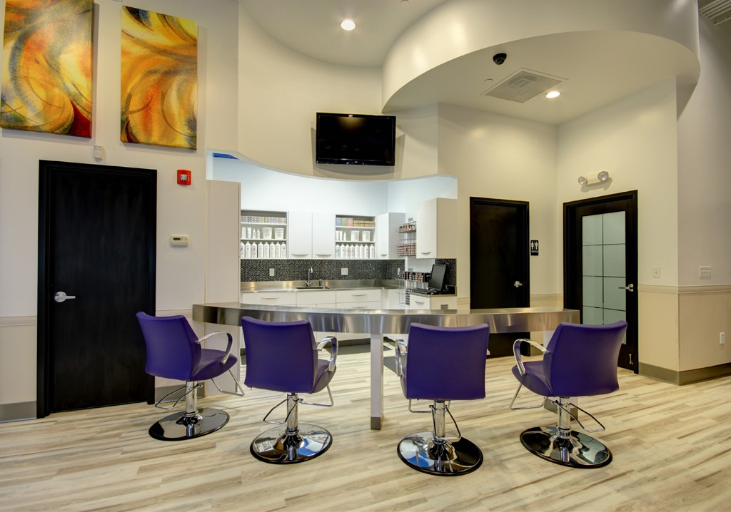Stainless steel counters for ginger bay salon spa - Color salon ...